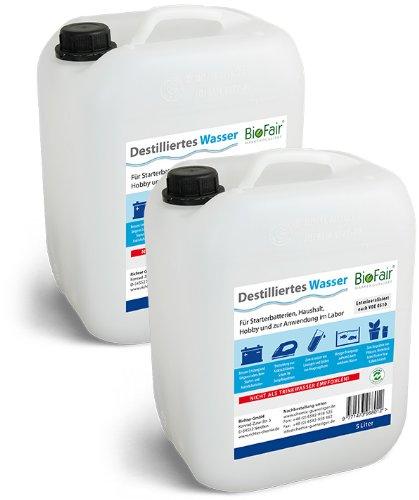 2 kanister 5 liter sparpaket destilliertes wasser biofair versandkostenfrei abmarac. Black Bedroom Furniture Sets. Home Design Ideas