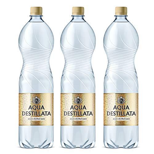 Destilliertes Wasser 4 5 Liter 3 Flaschen X 1 5 L 100 Reines Dampf